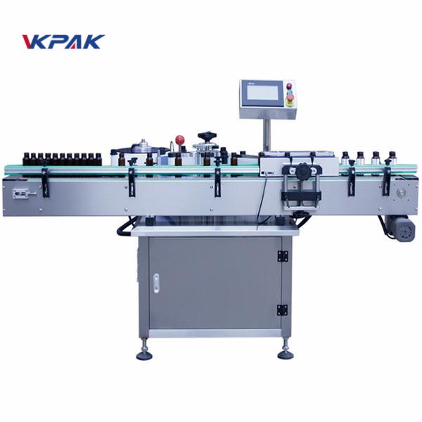 Automaatne vertikaalse ümmarguse pudeli kleebise sildistamise masin